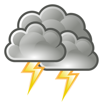 400x400 Lightning Clouds Clipart