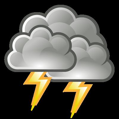 400x400 Lightning Clouds Clipart