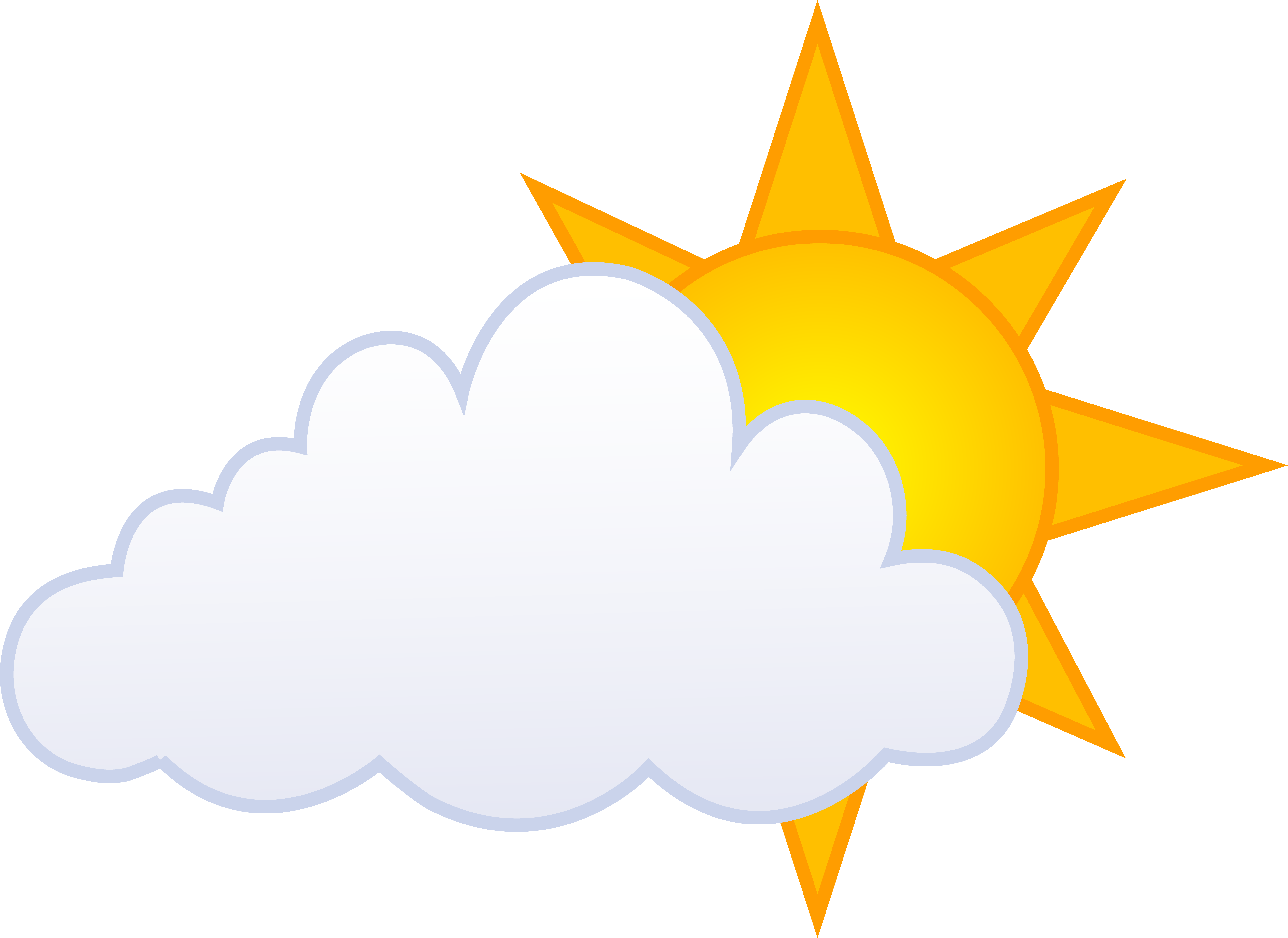 7951x5793 Partly Cloudy Weather Clip Art Clipart Clipart
