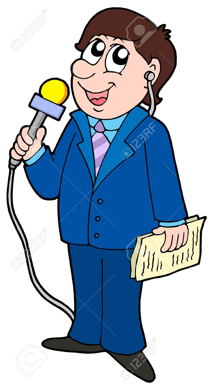 711x1300 Journalist Clipart Tv Reporter