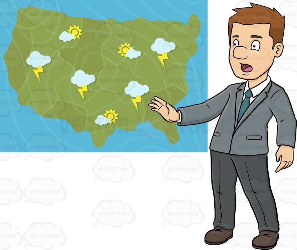 1024x863 Journalist Clipart Weather Reporter
