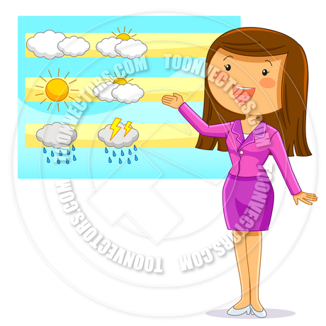 460x460 Weather Reporter By Ayelet Keshet Toon Vectors Eps