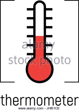 300x421 Temperature Icon, Vector Clip Art. Narrow Range Mercury