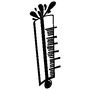 300x300 Thermometer Bursting Clipart