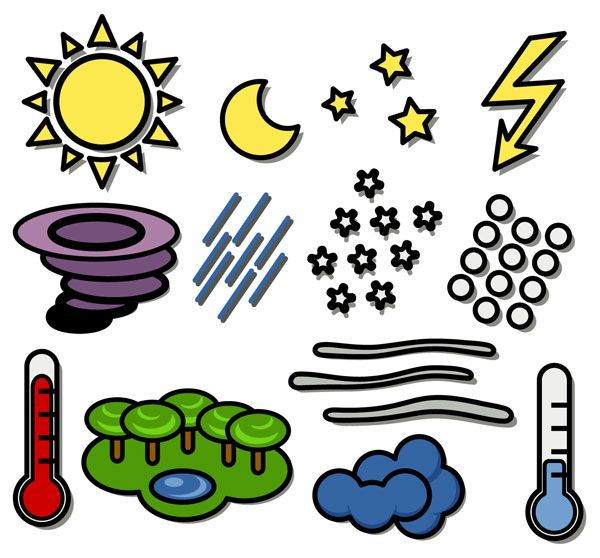 600x558 Best Weather Symbols For Kids Ideas Weather