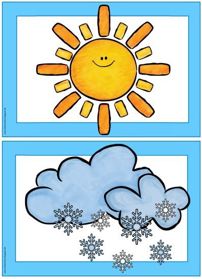 397x549 Free Weather Flashcards For Kindergarten! Teach Weather Easily