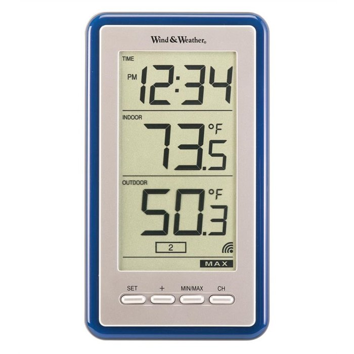 700x700 Wind Amp Weather Large Digit Indoor Outdoor Spot Thermometer