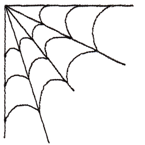 500x500 Corner spider web clipart free clipart images 4