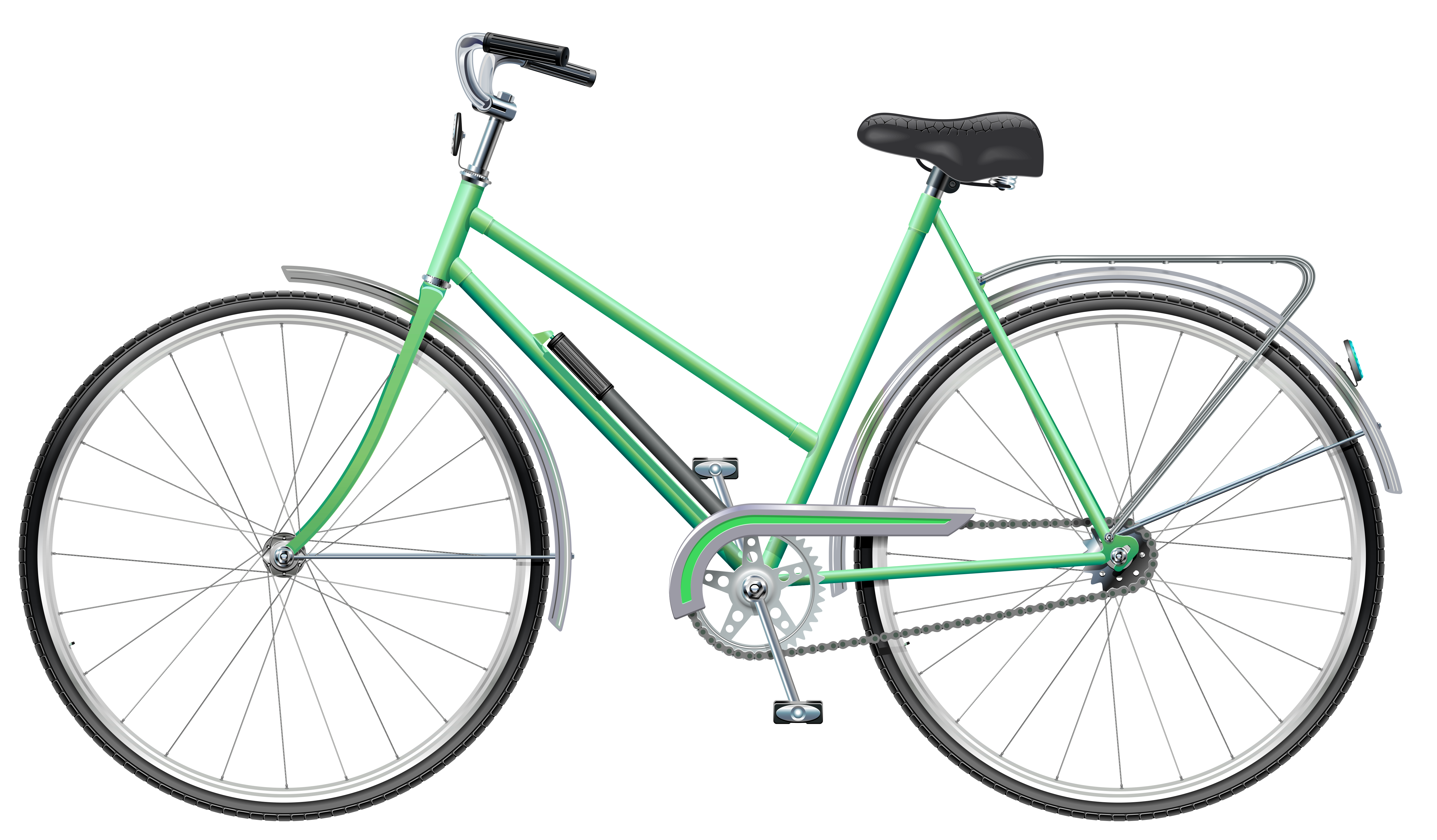 5132x3002 Green Bicycle Png Clip Art