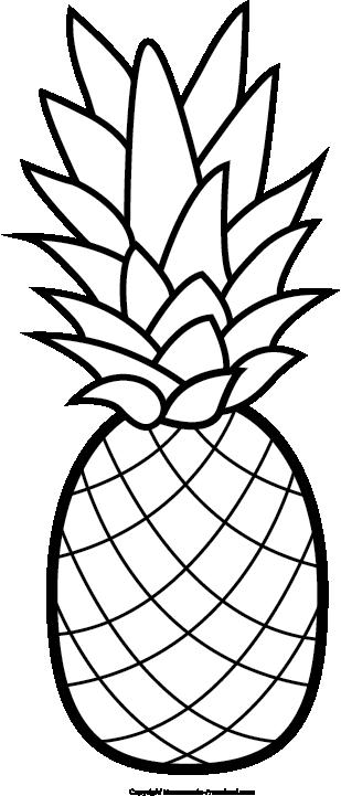 309x721 Pineapple clipart free clip art hair image