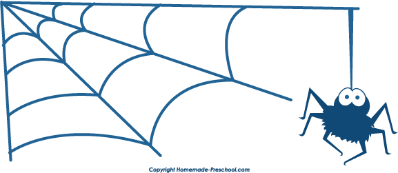 577x251 Spider Web clipart corner vector