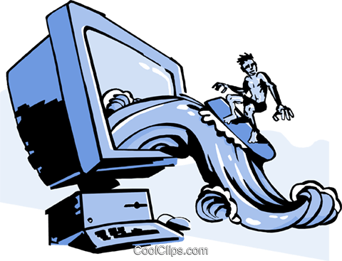 480x367 Business Surfing The Web Royalty Free Vector Clip Art