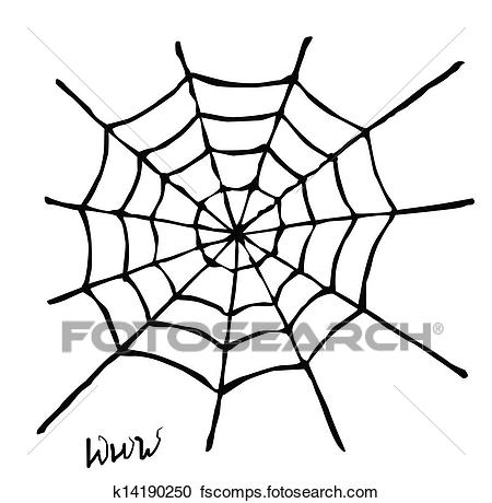450x460 Clipart Of Spider Web K14190250