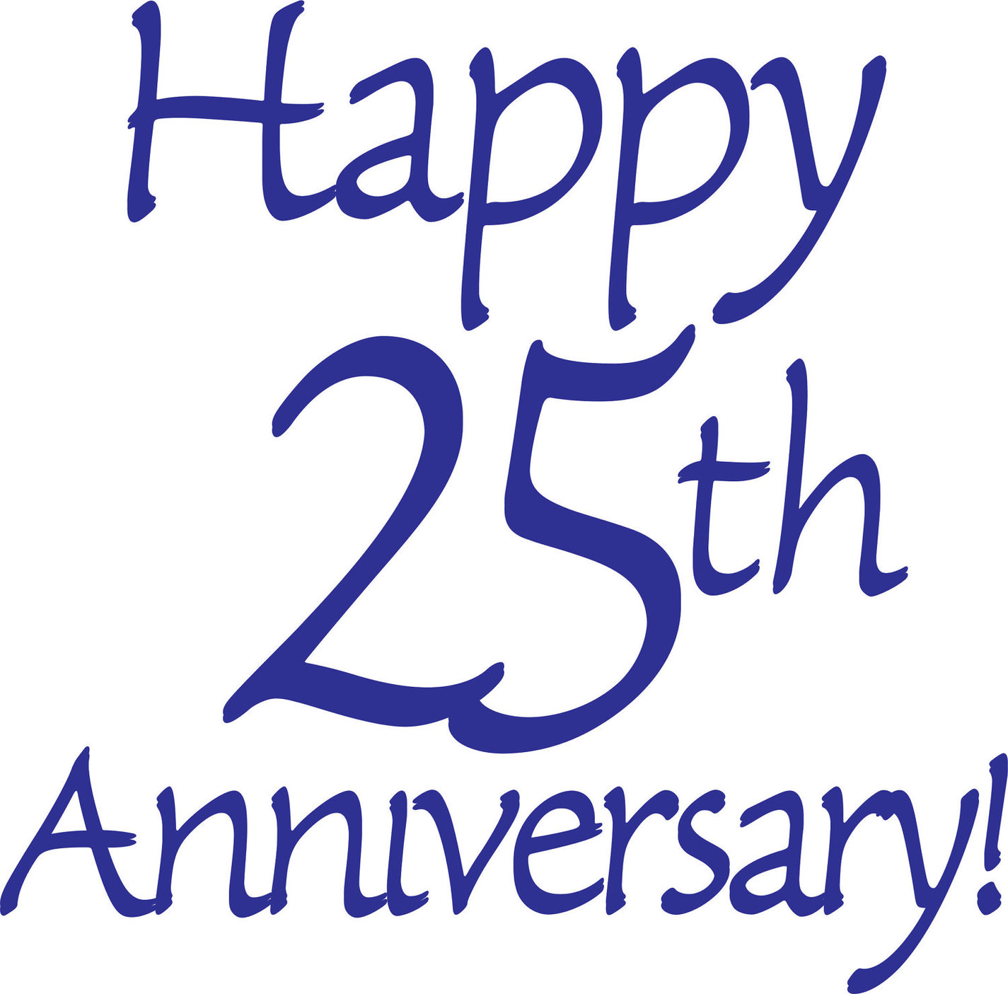 1425x1405 25th Wedding Anniversary Clipart Free