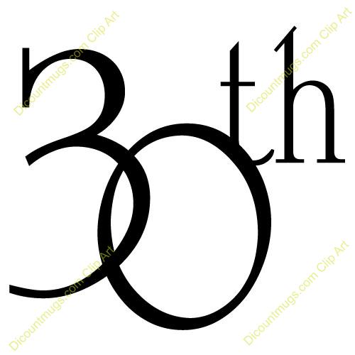 500x500 30th Anniversary Clipart