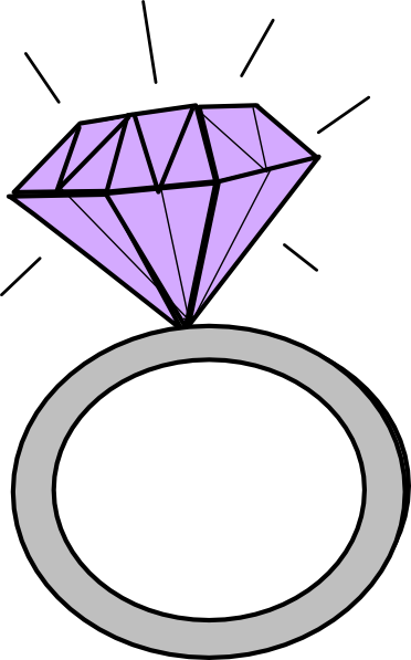 372x597 Diamond Ring Clip Art