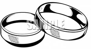 300x163 Clipart Picture Of Two Wedding Bands