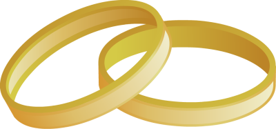 400x187 Clipart Of Gold Wedding Bands