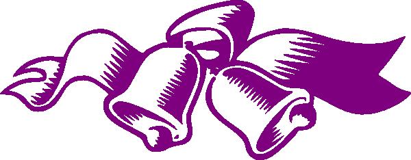 600x234 Purple Wedding Bells Clip Art