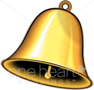 300x289 Gold Wedding Bell Wedding Bell Clipart
