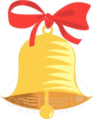 307x388 Gold Wedding Bell Clipart