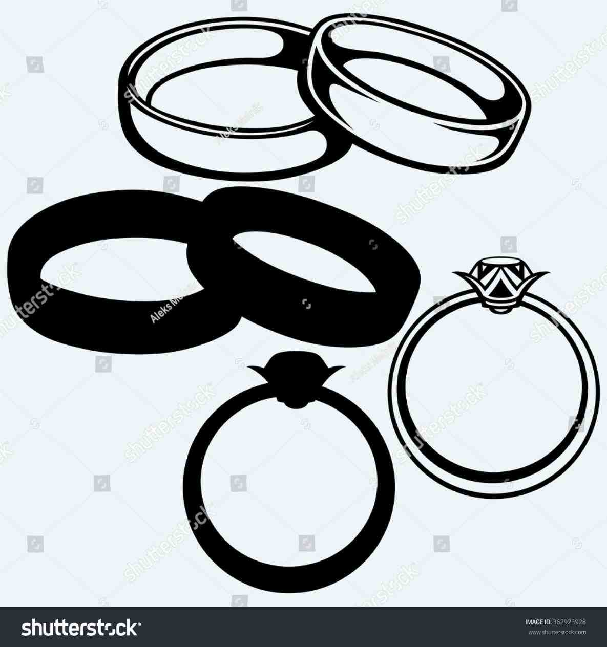1185x1264 Icon Isolated Blue Stock Vector Rings Wedding Bells Silhouette