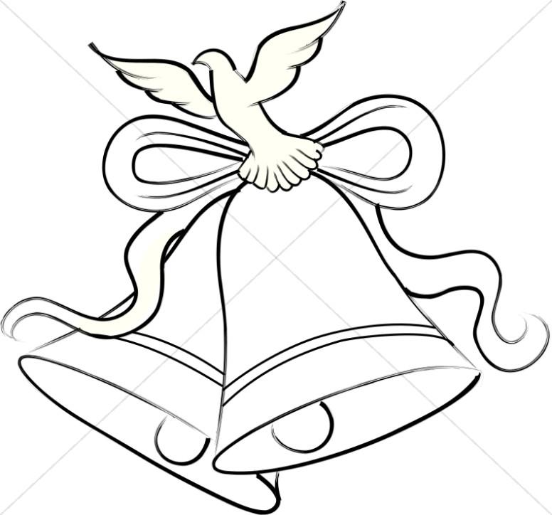 776x724 Silver Wedding Bells Clipart