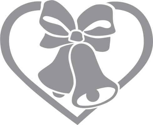 489x400 Wedding Bells With Ribbon And Heart Pre Cut Patterns