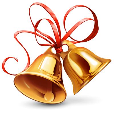 400x400 Golden Wedding Bells Clipart