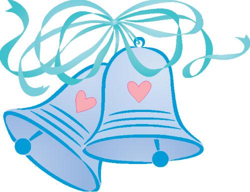 500x384 Mauve Clipart Wedding Bell