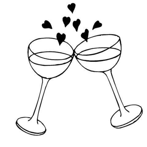 480x480 Bell Clipart Wedding Glass