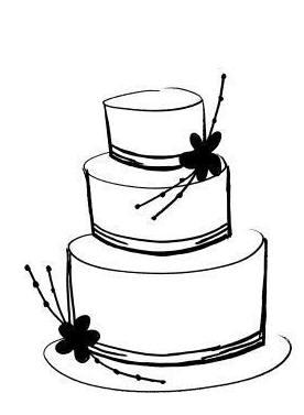 276x377 Clip Art Black And White Wedding Cake Clipart