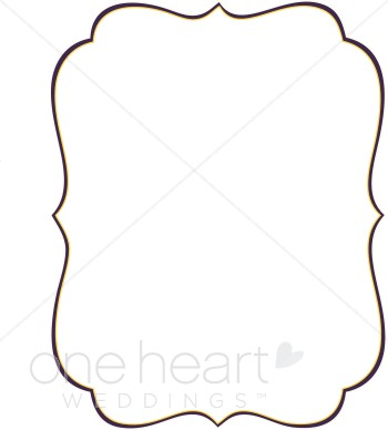 350x388 Stylish Bracket Clipart Wedding Borders