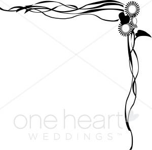 300x296 Wedding Program Border Clipart
