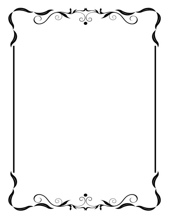 564x730 Free Wedding Clipart Borders And Frames