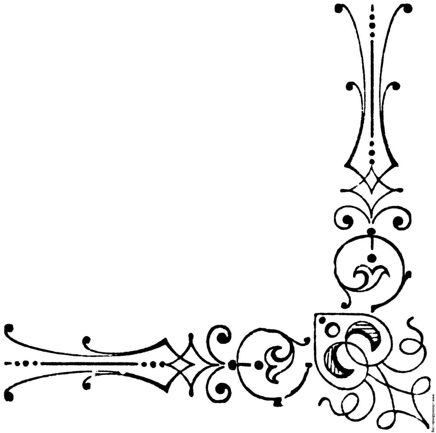 1420x1412 Free Wedding Corner Border Clipart Damask Clip Art Rectangle S