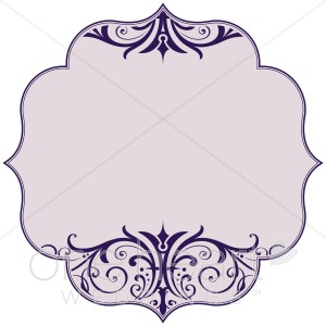 300x300 Purple Scroll Bracket Clipart Wedding Borders