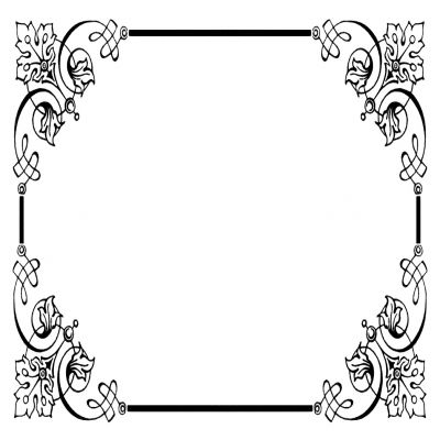 400x400 Vintage Wedding Border Clipart Png