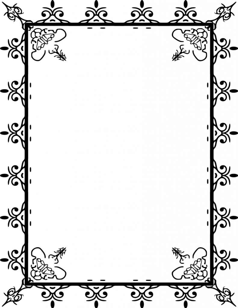 791x1024 Border Clipart Download Frame