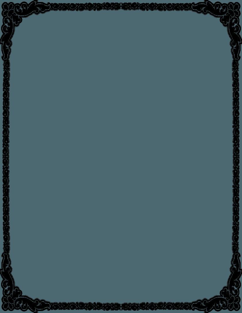 840x1087 Wedding Invitation Border Clipart