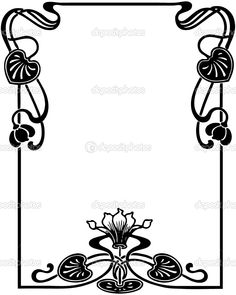 236x295 Art Nouveau Border Design Wedding Ideas Border