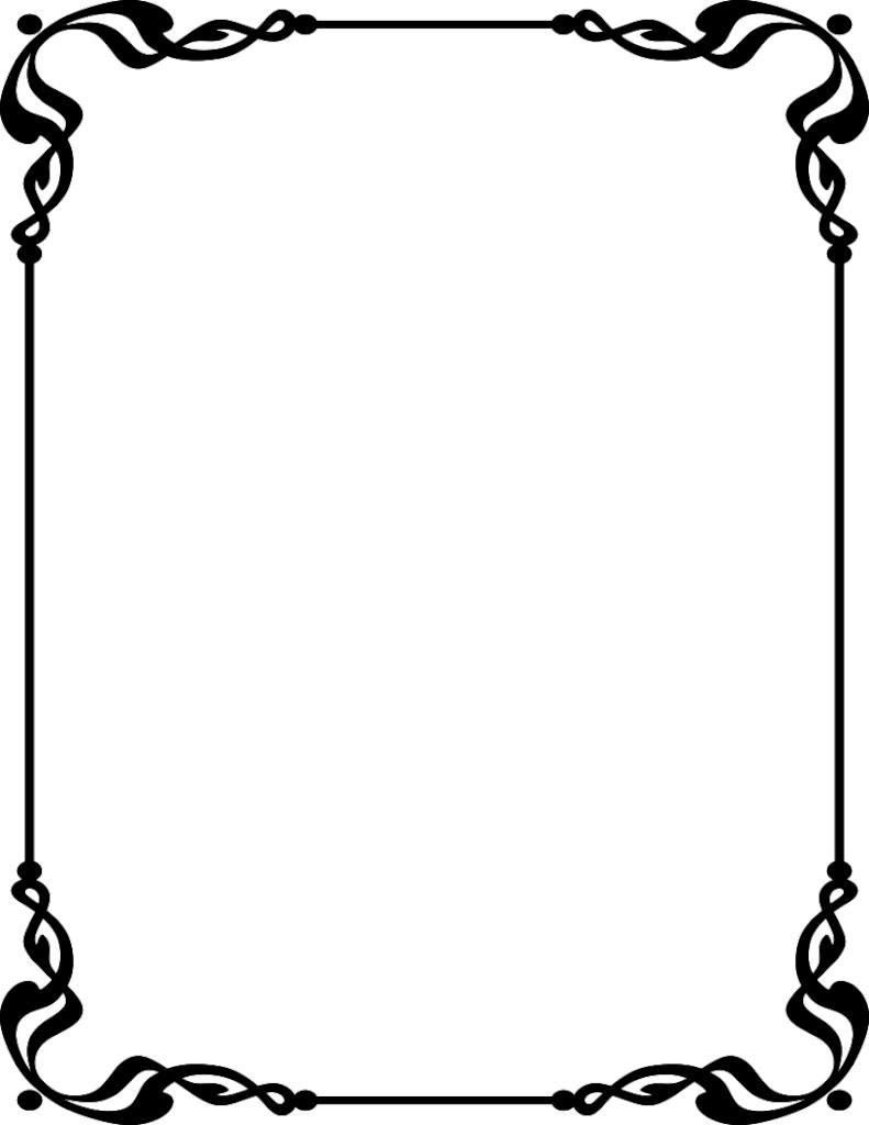 791x1024 Border Design For Wedding Invitation