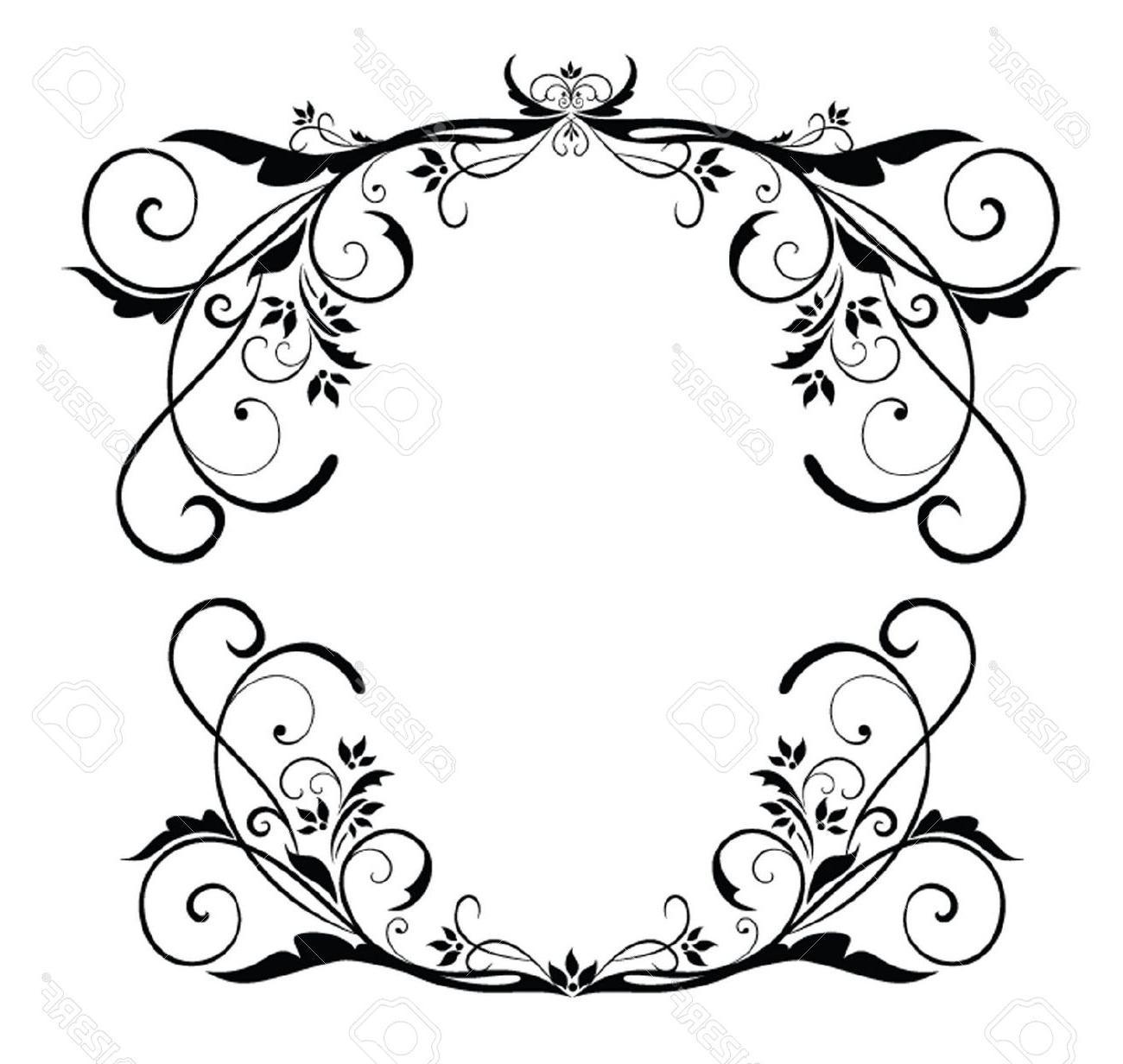 1300x1232 Best 15 Vintage Black Frame Stock Vector Wedding Menu Border File Free