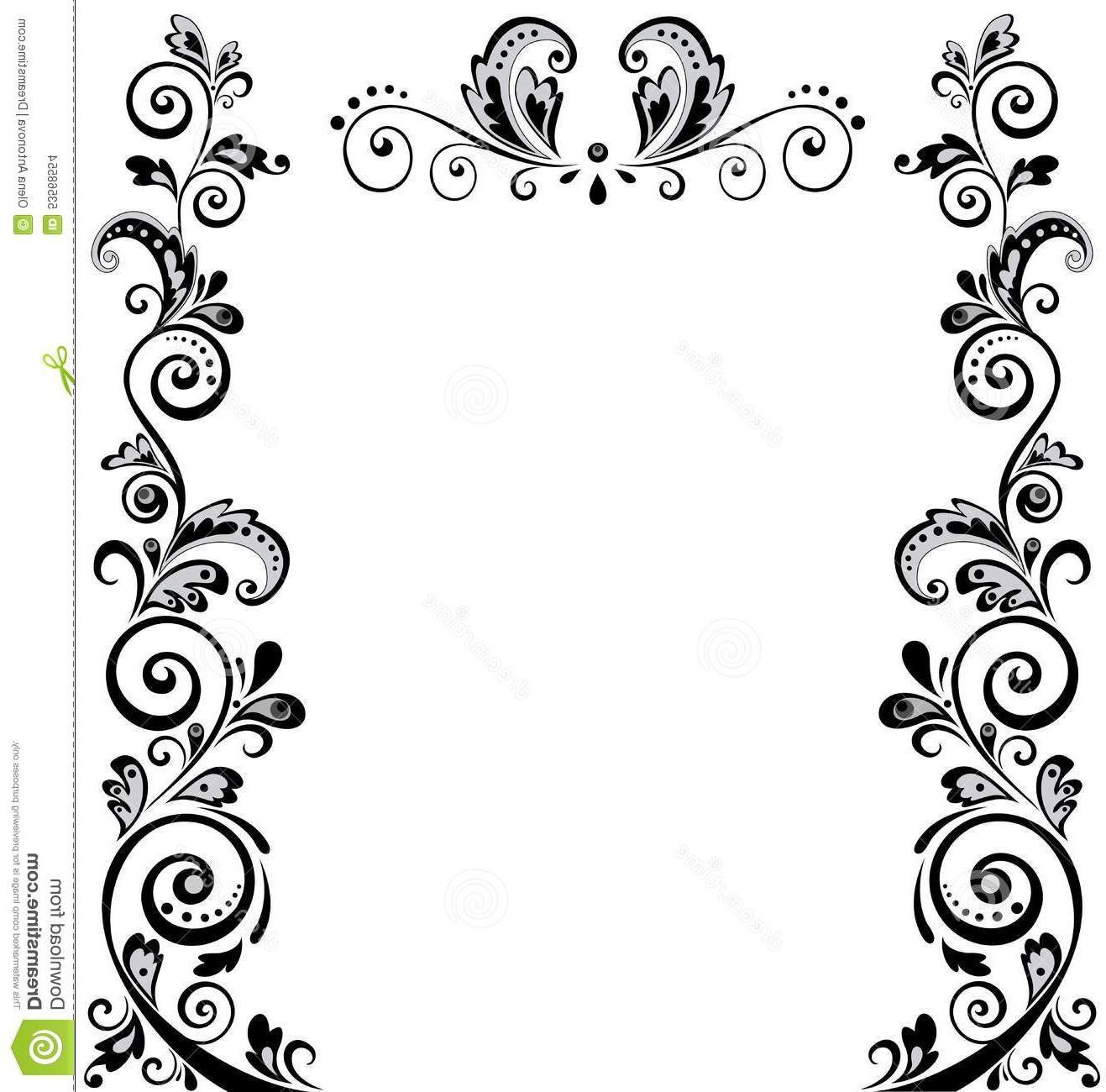 1317x1300 Best Vintage Wedding Border Floral Black White Photos