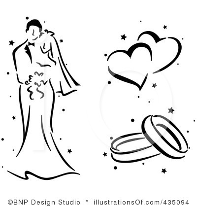 400x420 Free Clipart For Wedding
