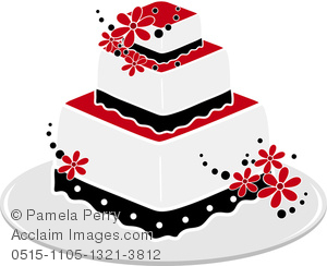 Wedding Cake Clipart Black And White