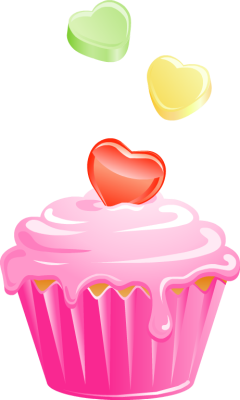 240x400 Pink Wedding Cake Clipart
