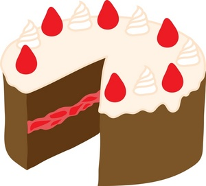 300x271 Wedding Cake Clipart Image A Red And Black Square Wedding Cake
