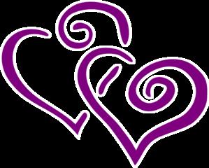299x240 Dark Purple Heart Wedding Clip Art