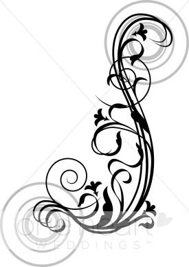275x388 Free Wedding Invitation Swirls Clipart